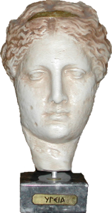 statue bust of Hygea goddess of hygiene